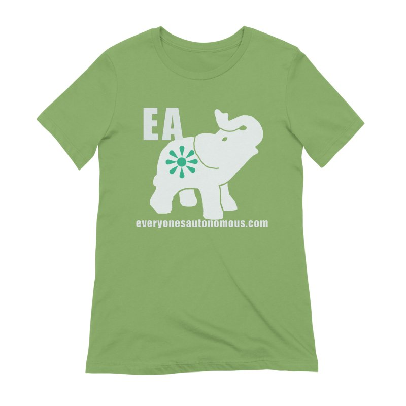 White Elephant with EA and WWW Women's Extra Soft T-Shirt by everyonesautonomous's Artist Shop