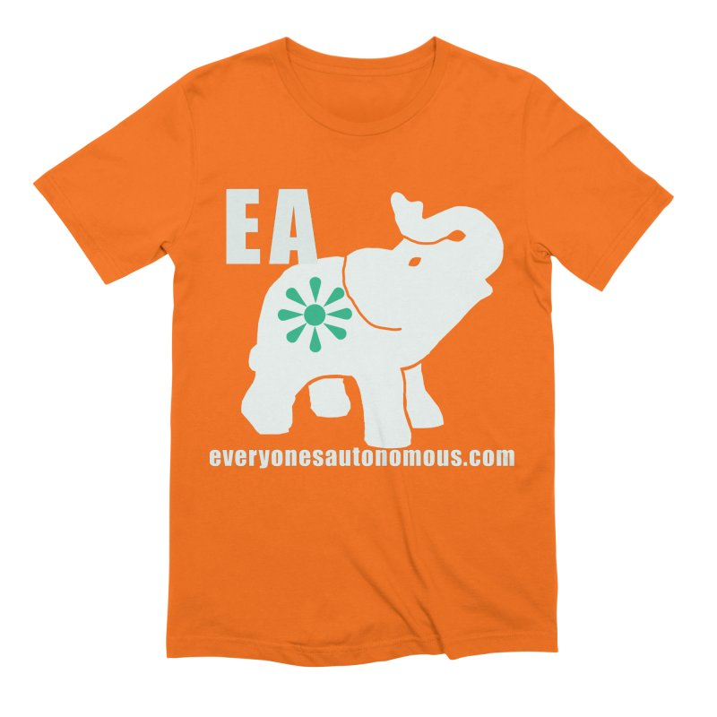 White Elephant with EA and WWW Men's Extra Soft T-Shirt by everyonesautonomous's Artist Shop