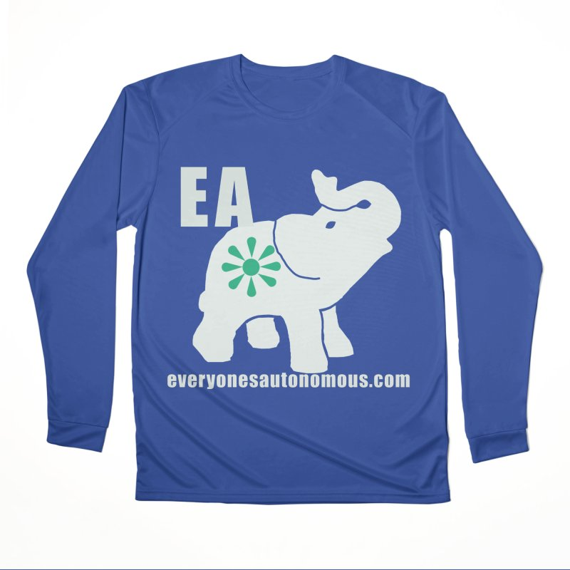 White Elephant with EA and WWW Men's Performance Longsleeve T-Shirt by everyonesautonomous's Artist Shop