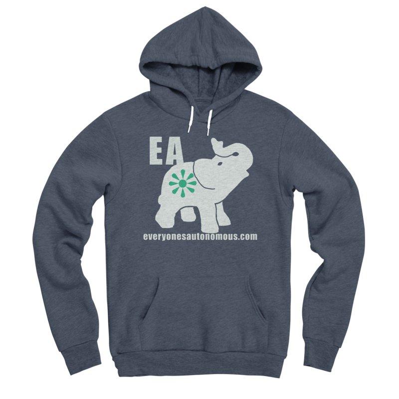 White Elephant with EA and WWW Women's Sponge Fleece Pullover Hoody by everyonesautonomous's Artist Shop