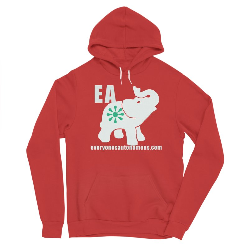 White Elephant with EA and WWW Women's Pullover Hoody by Everyone's Autonomous' Artist Shop