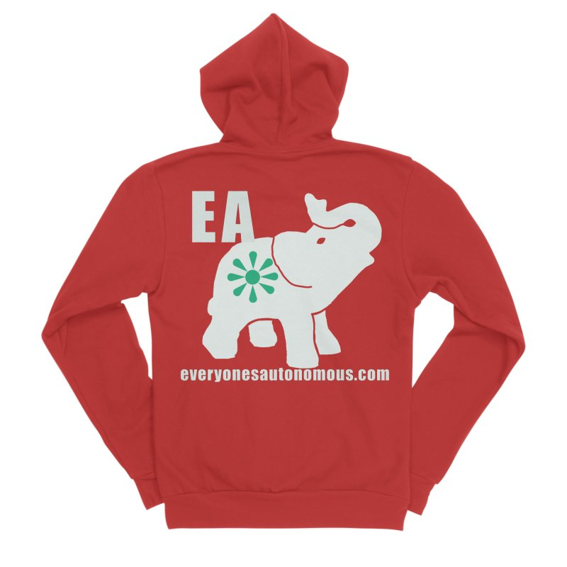 White Elephant with EA and WWW Men's Zip-Up Hoody by Everyone's Autonomous' Artist Shop