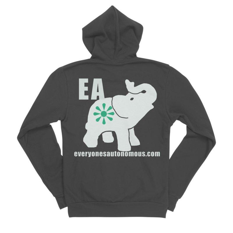 White Elephant with EA and WWW Women's Sponge Fleece Zip-Up Hoody by everyonesautonomous's Artist Shop