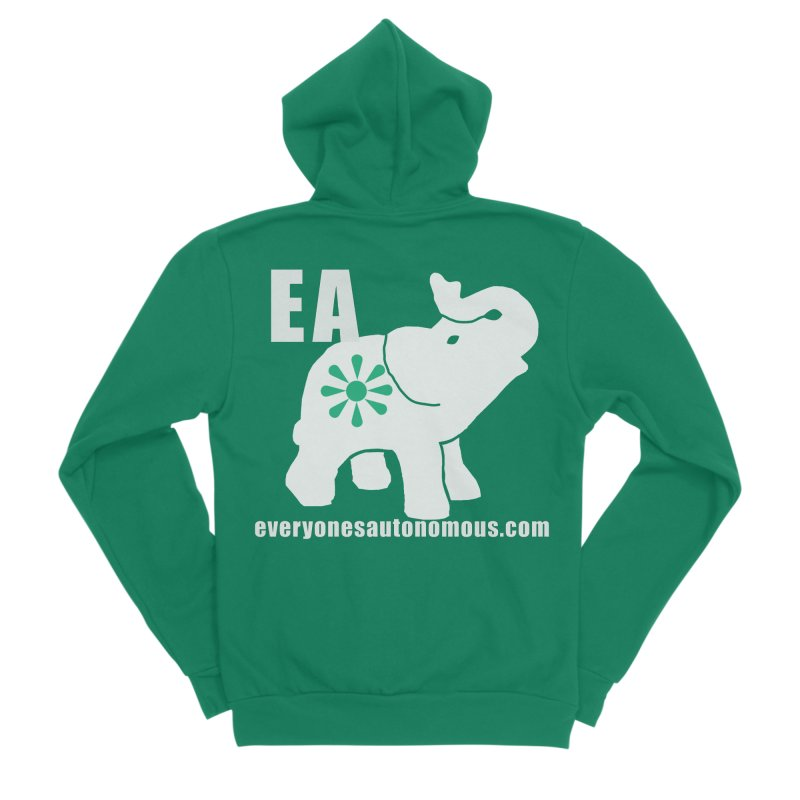 White Elephant with EA and WWW Men's Sponge Fleece Zip-Up Hoody by everyonesautonomous's Artist Shop