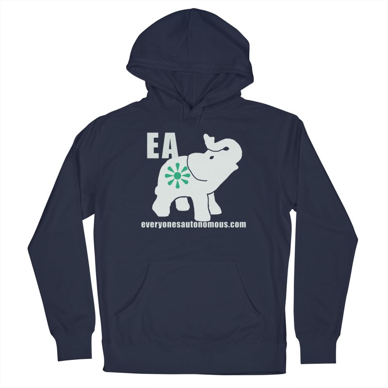 White Elephant with EA and WWW Women's French Terry Pullover Hoody by everyonesautonomous's Artist Shop