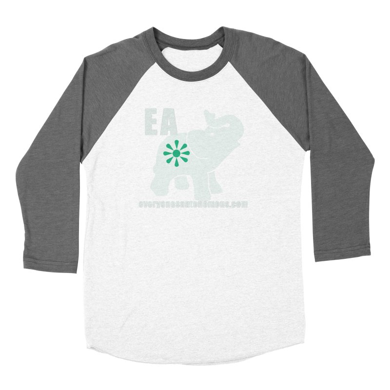 White Elephant with EA and WWW Women's Baseball Triblend Longsleeve T-Shirt by everyonesautonomous's Artist Shop