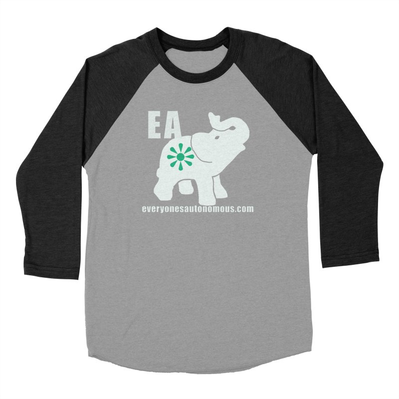 White Elephant with EA and WWW Men's Baseball Triblend Longsleeve T-Shirt by everyonesautonomous's Artist Shop