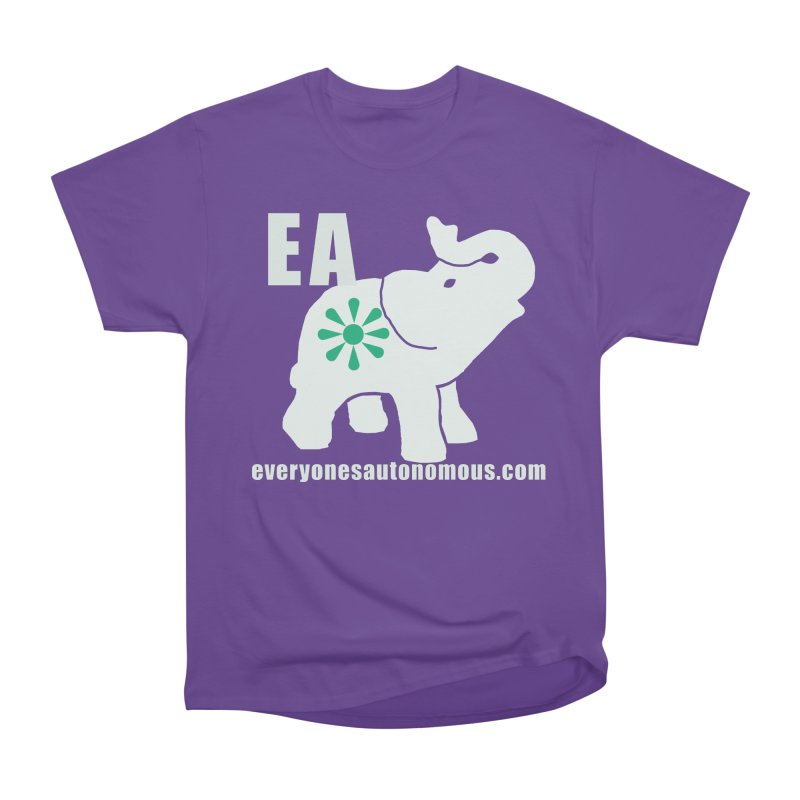 White Elephant with EA and WWW Men's Heavyweight T-Shirt by everyonesautonomous's Artist Shop