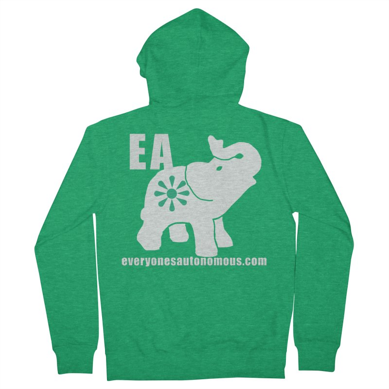 White Elephant with EA and WWW Women's French Terry Zip-Up Hoody by everyonesautonomous's Artist Shop