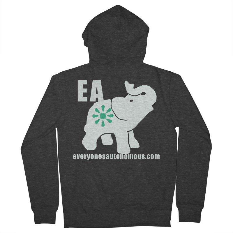 White Elephant with EA and WWW Men's French Terry Zip-Up Hoody by everyonesautonomous's Artist Shop