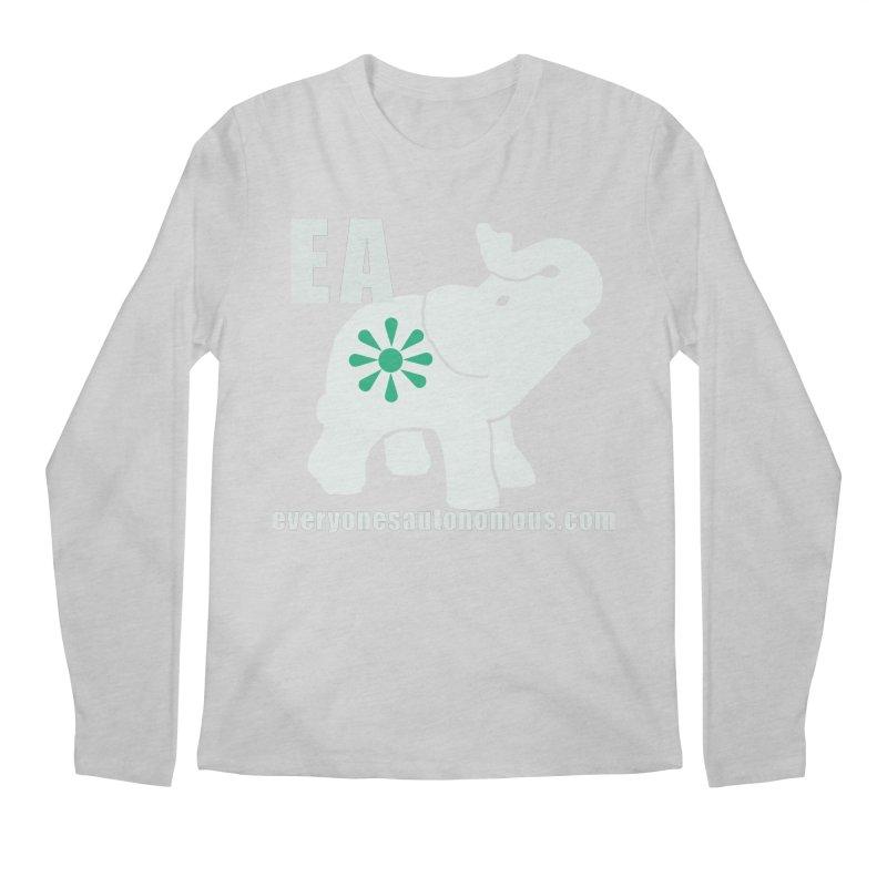 White Elephant with EA and WWW Men's Regular Longsleeve T-Shirt by everyonesautonomous's Artist Shop