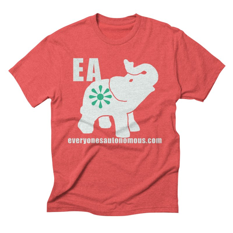 White Elephant with EA and WWW Men's Triblend T-Shirt by everyonesautonomous's Artist Shop