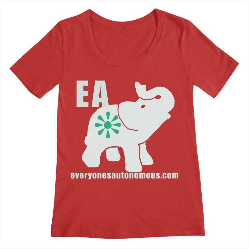 White Elephant with EA and WWW Women's Regular Scoop Neck by everyonesautonomous's Artist Shop
