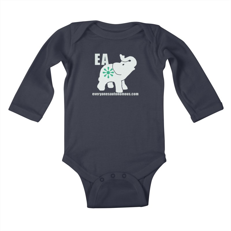 White Elephant with EA and WWW Kids Baby Longsleeve Bodysuit by Everyone's Autonomous' Artist Shop