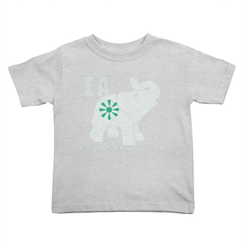 White Elephant with EA and WWW Kids Toddler T-Shirt by everyonesautonomous's Artist Shop