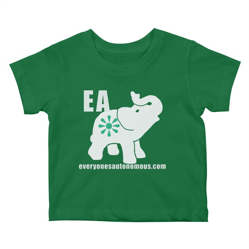 White Elephant with EA and WWW Kids Baby T-Shirt by Everyone's Autonomous' Artist Shop