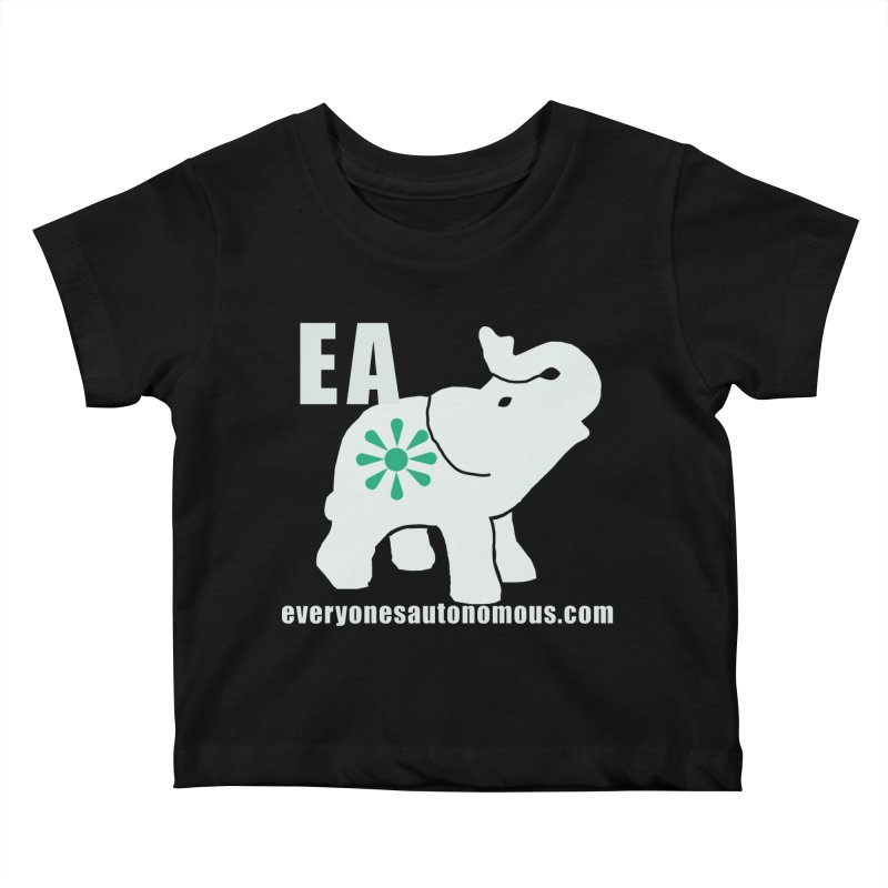 White Elephant with EA and WWW Kids Baby T-Shirt by everyonesautonomous's Artist Shop