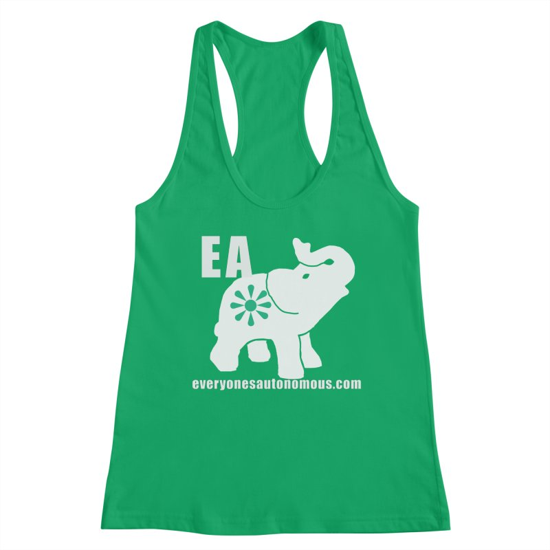 White Elephant with EA and WWW Women's Tank by Everyone's Autonomous' Artist Shop