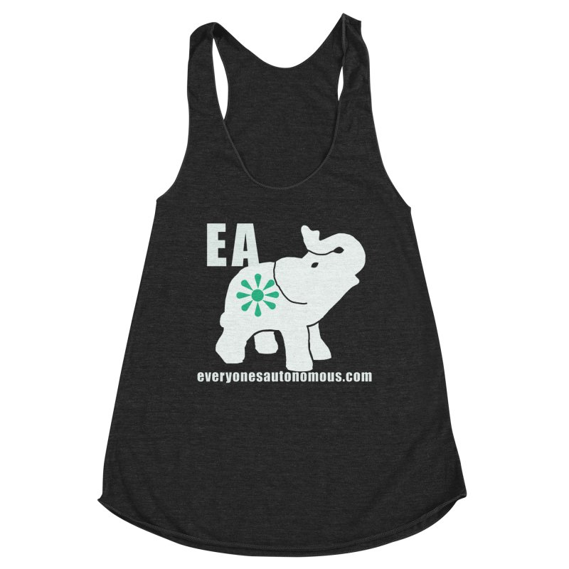 White Elephant with EA and WWW Women's Racerback Triblend Tank by everyonesautonomous's Artist Shop