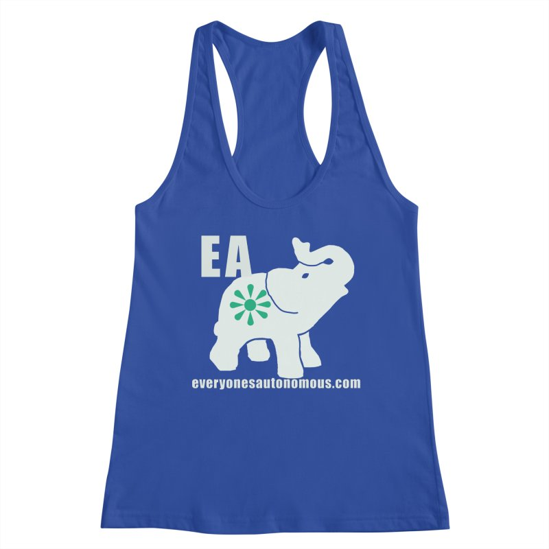 White Elephant with EA and WWW Women's Racerback Tank by everyonesautonomous's Artist Shop