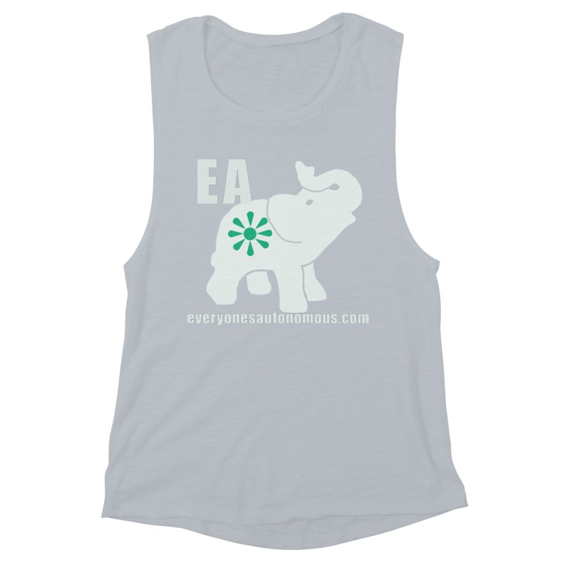 White Elephant with EA and WWW Women's Muscle Tank by everyonesautonomous's Artist Shop