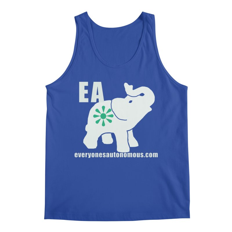 White Elephant with EA and WWW Men's Regular Tank by everyonesautonomous's Artist Shop