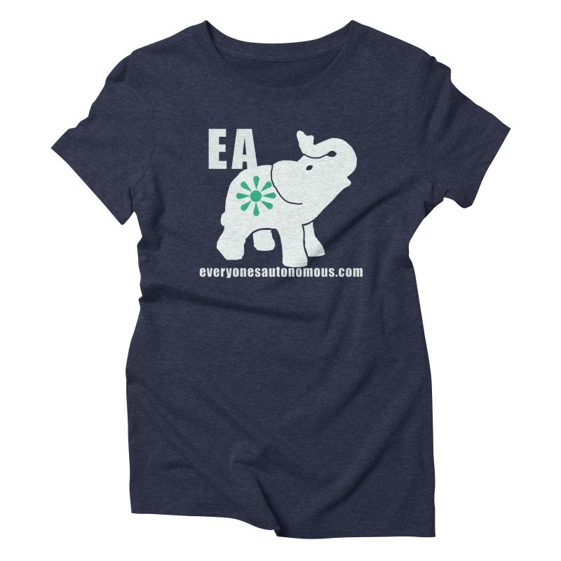 White Elephant with EA and WWW Women's T-Shirt by Everyone's Autonomous' Artist Shop