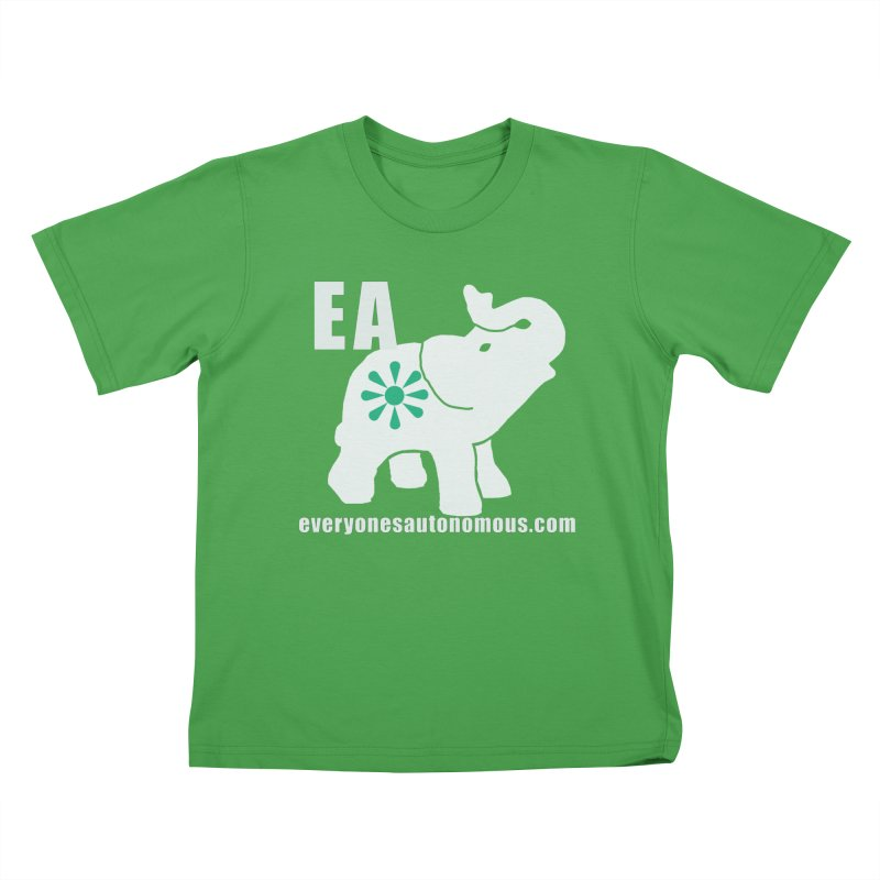 White Elephant with EA and WWW Kids T-Shirt by everyonesautonomous's Artist Shop