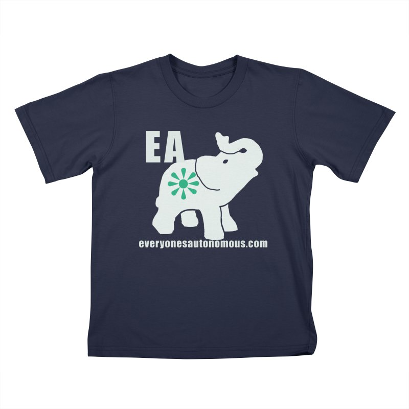 White Elephant with EA and WWW Kids T-Shirt by Everyone's Autonomous' Artist Shop