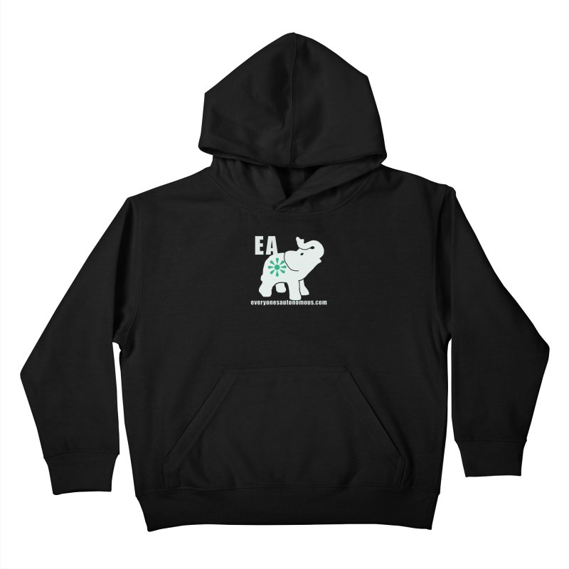 White Elephant with EA and WWW Kids Pullover Hoody by everyonesautonomous's Artist Shop