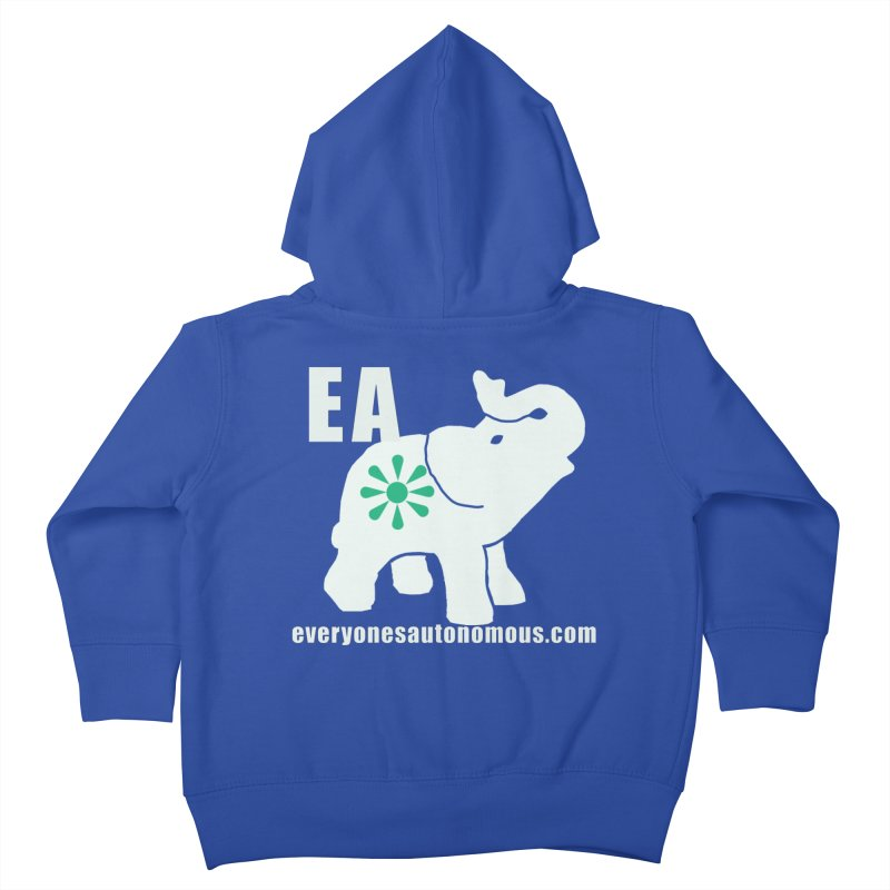 White Elephant with EA and WWW Kids Toddler Zip-Up Hoody by everyonesautonomous's Artist Shop