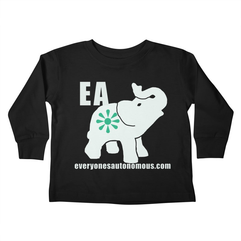 White Elephant with EA and WWW Kids Toddler Longsleeve T-Shirt by Everyone's Autonomous' Artist Shop