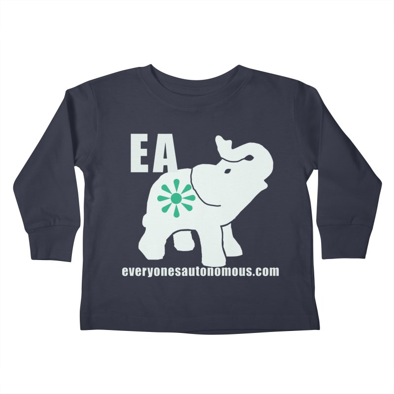White Elephant with EA and WWW Kids Toddler Longsleeve T-Shirt by everyonesautonomous's Artist Shop