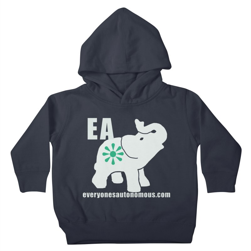 White Elephant with EA and WWW Kids Toddler Pullover Hoody by everyonesautonomous's Artist Shop