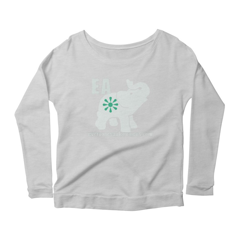 White Elephant with EA and WWW Women's Scoop Neck Longsleeve T-Shirt by everyonesautonomous's Artist Shop