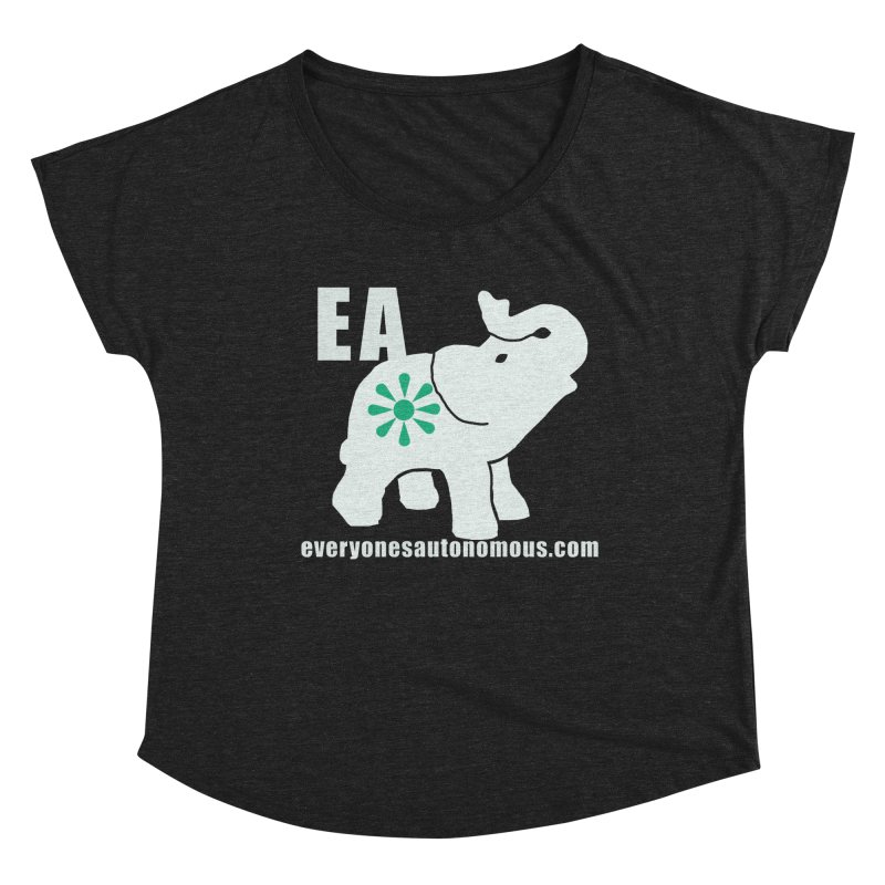 White Elephant with EA and WWW Women's Dolman Scoop Neck by everyonesautonomous's Artist Shop