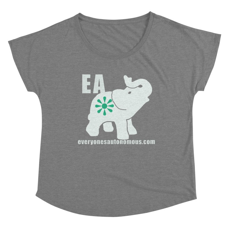 White Elephant with EA and WWW Women's Scoop Neck by everyonesautonomous's Artist Shop