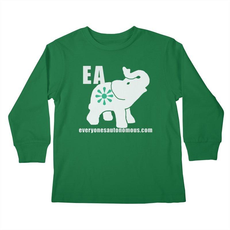 White Elephant with EA and WWW Kids Longsleeve T-Shirt by everyonesautonomous's Artist Shop