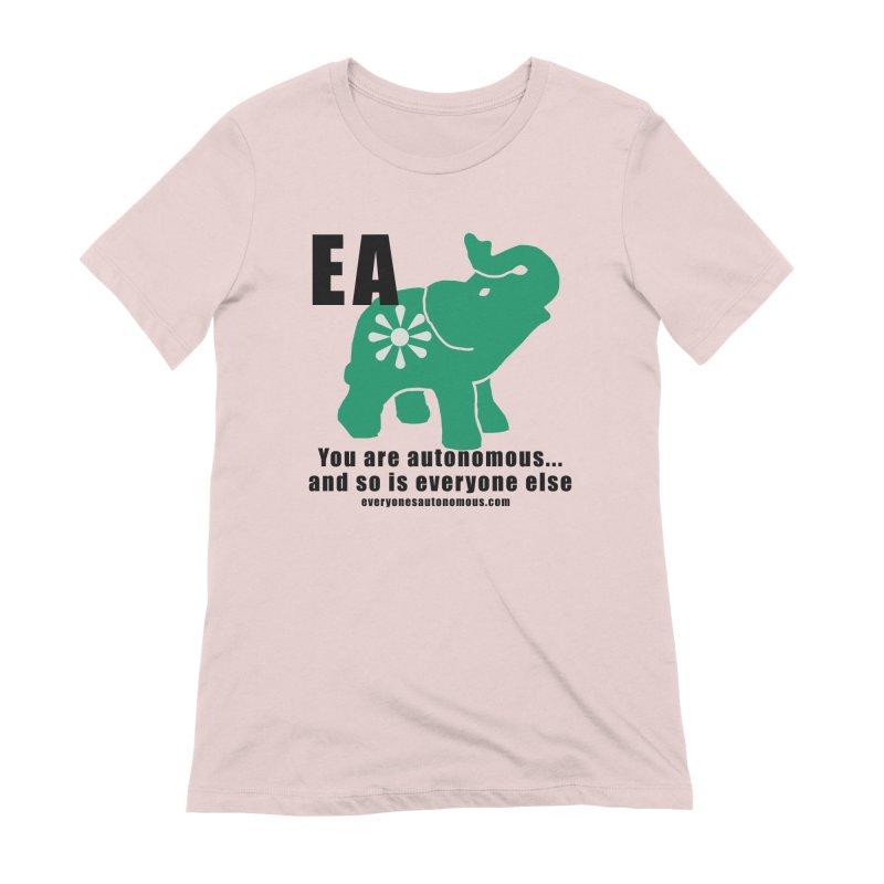 EA, Quote & WWW Women's Extra Soft T-Shirt by everyonesautonomous's Artist Shop