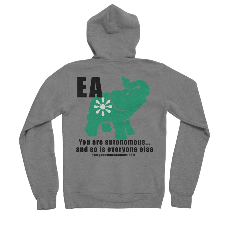 EA, Quote & WWW Women's Sponge Fleece Zip-Up Hoody by everyonesautonomous's Artist Shop
