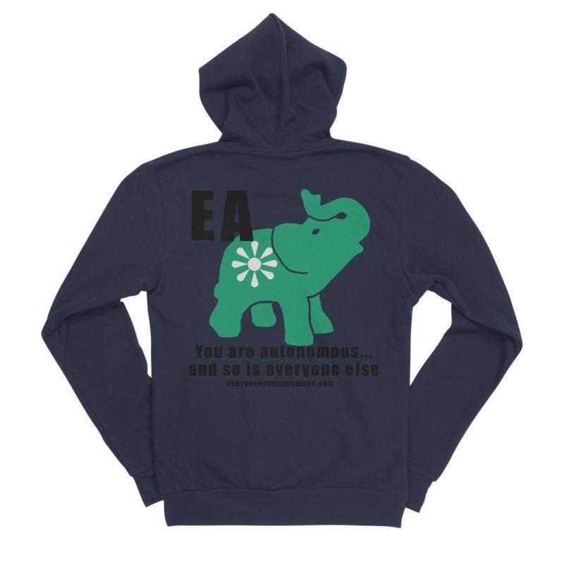 EA, Quote & WWW Men's Sponge Fleece Zip-Up Hoody by everyonesautonomous's Artist Shop