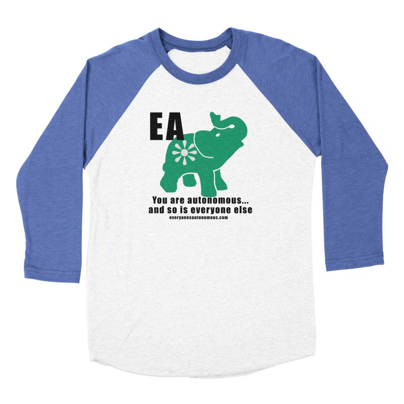 EA, Quote & WWW Men's Baseball Triblend Longsleeve T-Shirt by everyonesautonomous's Artist Shop