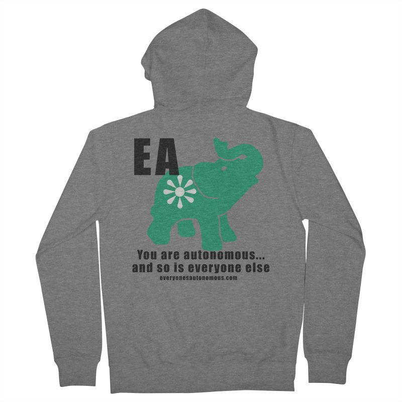 EA, Quote & WWW Women's French Terry Zip-Up Hoody by everyonesautonomous's Artist Shop