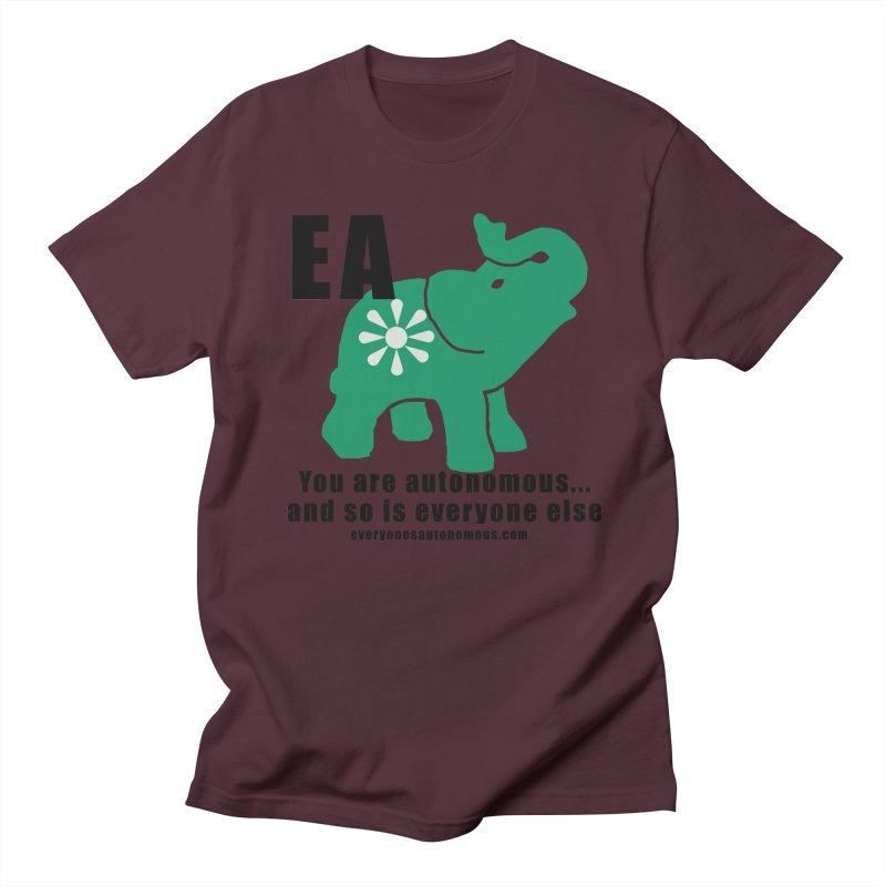 EA, Quote & WWW Men's Regular T-Shirt by everyonesautonomous's Artist Shop