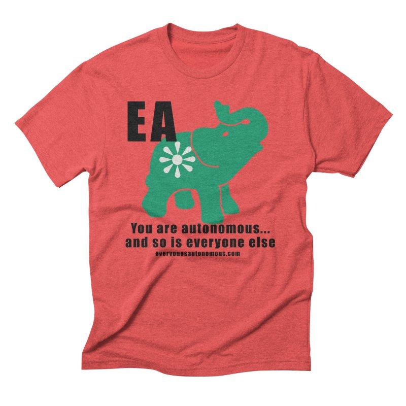EA, Quote & WWW Men's Triblend T-Shirt by everyonesautonomous's Artist Shop