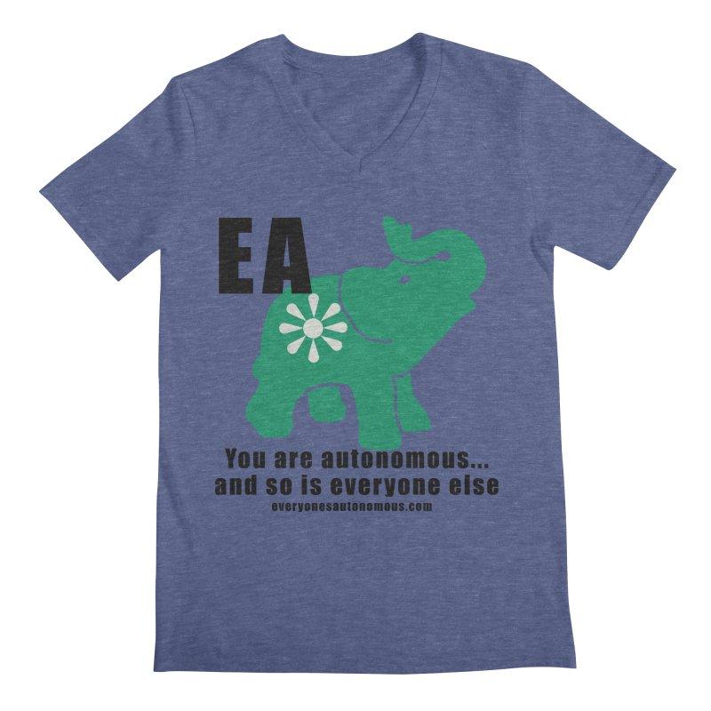 EA, Quote & WWW Men's Regular V-Neck by everyonesautonomous's Artist Shop