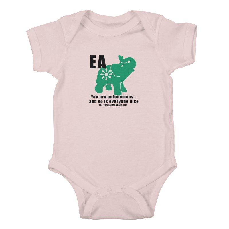 EA, Quote & WWW Kids Baby Bodysuit by everyonesautonomous's Artist Shop
