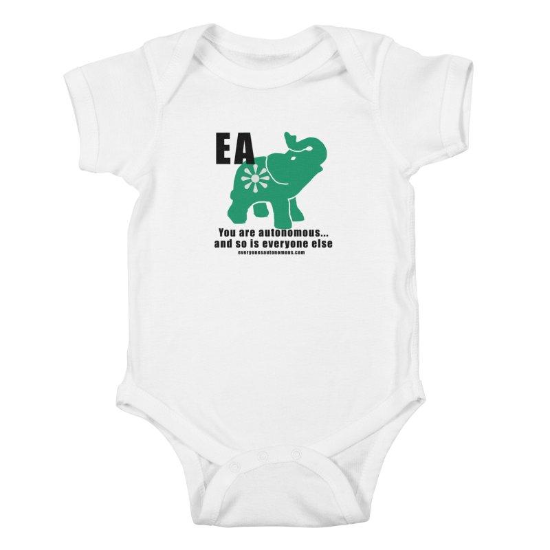 EA, Quote & WWW Kids Baby Bodysuit by Everyone's Autonomous' Artist Shop