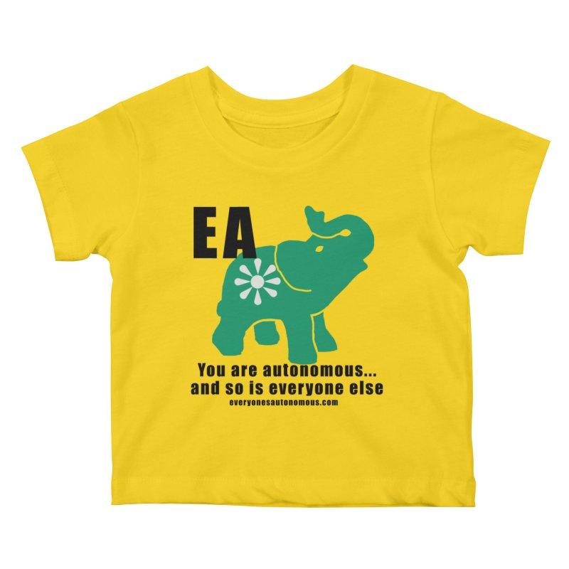 EA, Quote & WWW Kids Baby T-Shirt by everyonesautonomous's Artist Shop