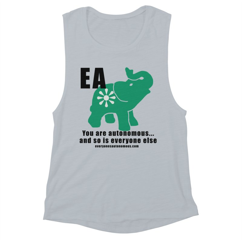 EA, Quote & WWW Women's Muscle Tank by everyonesautonomous's Artist Shop